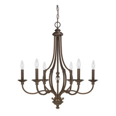 Capital Lighting 4706BB-000 Leigh 6-Light Chandelier, Burnished Bronze