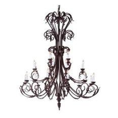 Gallery Lighting - Wrought Iron Black Chandelier Large - Chandeliers