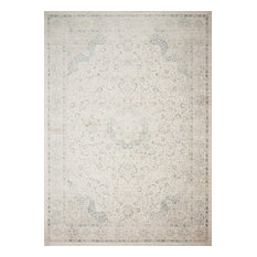 "Ivory Blue Griffin Area Rug by Loloi, 7'6""x10'5"""