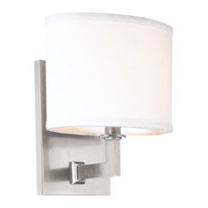 Grayson 1 Light Wall Sconce in Satin Nickel