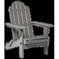 Patio Wood Adirondack Chair, Gray Wash