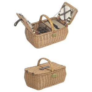 4-Person Fitted Lifestyle Double Lidded Rectangular Picnic Basket