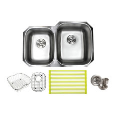 Ariel Stainless Steel Undermount Double 40 60 Kitchen Sink And Accessories 32