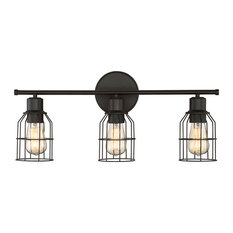 Helmsman Lighting Works   3 Light Bath Bar Light, Oil Rubbed Bronze    Bathroom