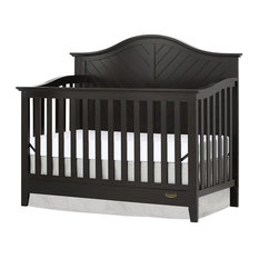 Dream On Me Ella 5 in 1 Convertible Crib in Dark Brown
