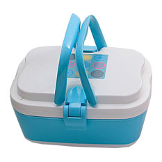 2 Layers Bento Lunch Box, Food Container With Handles, Blue