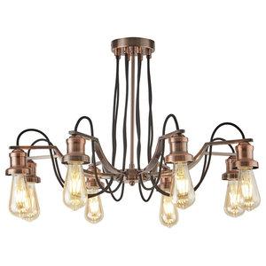 Olivia 8-Light Ceiling Light, Antique Copper
