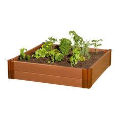 Tool-Free Classic Sienna Raised Garden Bed 4'x4'x11', 2' profile