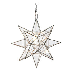 Clear Star Chandelier, Large