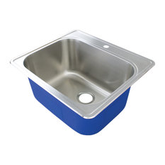 """Transolid Meridian 25""""x22"""" Laundry/Utility Sink With 1-Hole, Brushed Finish"""