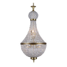 Gatsby Luminaires French Empire Style 8 Light Chandelier Tuscan Gold With
