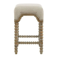 Madison Park Christine Counterstool With Silver Finish MP104-0762