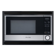"""24"""" Micro Chef Built In Microwave Oven for Home, Black/Stainless Steel"""