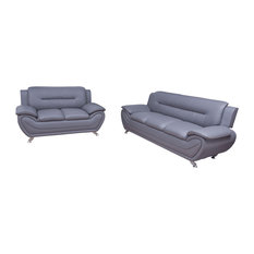 Oreo Grey Living Room Collection, Sofa and Loveseat