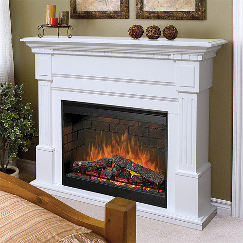 Dimplex - Sussex White Electric Fireplace Mantel Package - SOP-272-W -  Indoor - Electric Fireplace Mantel Packages