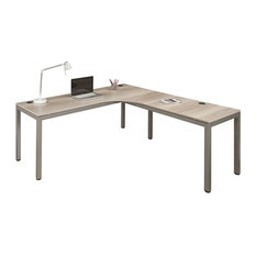 """At Work Corner Desk with User Curve - 72""""W x 72""""D Gray Laminate"""