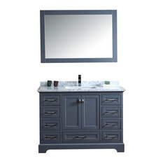 stufurhome stufurhome newport gray 48 inch single sink bathroom vanity with mirror bathroom vanities