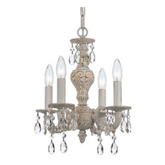 Crystorama Lighting 5024-AW-CL-S Sutton Transitional, Eclectic Mini Chandelier