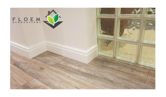 Laminate flooring and skirting boadrs