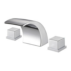 Sumerain   LED Waterfall Contemporary Widespread Bathroom Sink Faucet   Bathroom  Sink Faucets