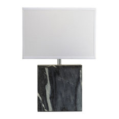 Dimond Lighting Grey Marble Square Table Lamp - 8989-007