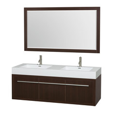 Superb Wyndham Collection   Axa Wall Mounted Double Bathroom Vanity, Espresso, 60  Inch,