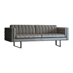 Beau Sleek Leather Sofas | Houzz