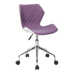 Techni Mobili Modern Height Adjustable Office Task Chair, Purple