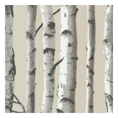 Irvin Gray Birch Tree Wallpaper, Bolt