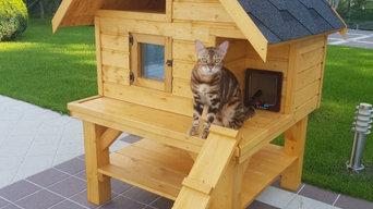 """Уличный домик для кошек """"Модерн"""""""