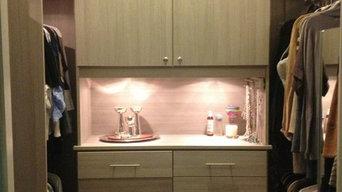 Modern Grey Textured Master Closet