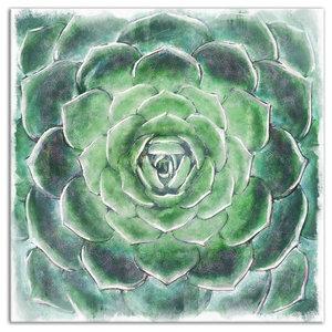 54fa974421f Emerald Succulent Canavs Wall Art