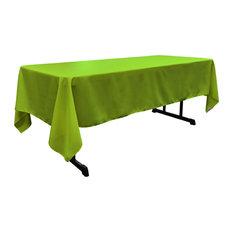"LA Linen Rectangular  Polyester Poplin Tablecloth, Lime, 60""x126"""