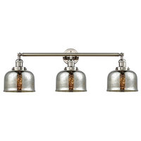 3-Light Bath Light Polished Nickel With LED Vintage Bulbs
