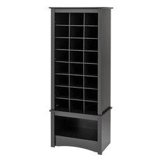 prepac furniture prepac black tall shoe cubbie cabinet shoe storage