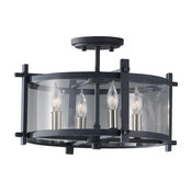 Feiss SF292AF/BS Ethan Semi Flush Mount Light