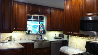 This kitchen was completed with Dimmable LED can lights as well as , Dimmable co
