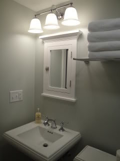 Lighting Over Surface Mounted Medicine Cabinet