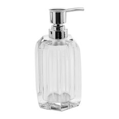 Crystal Glass Countertop Soap Dispenser, Clear