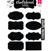 Chalkboard Labels Bundle, 40 Premium Stickers and Chalk Ink Marker