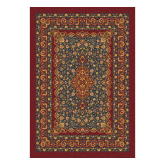 "Kashmiran Pastiche Tiraz 00187 Tapestry Red 280, 10'9""x13'2"" Rectangle"