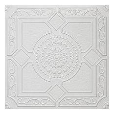 """20""""x20"""" Styrofoam Glue Up Ceiling Tiles, R30W Plain White"""