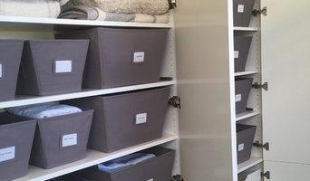 Linen closet in luxury home