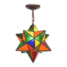 Colorful pendant lighting houzz meyda lighting 12 moravian star multi color pendant pendant lighting aloadofball Images