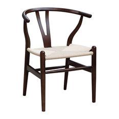 Fine Mod Imports Woodstring Dining Chair, Walnut