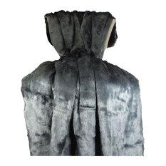 "Plutus Tissavel Faux Fur Handmade Blanket, 70""x90"""