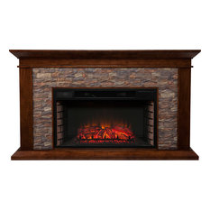 Canyon Heights Electric Fireplace - Natural