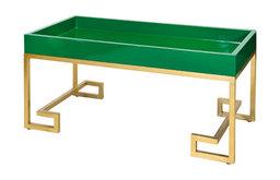 Greek Key Coffee Table, Green
