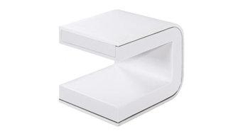 hochwertiger Nachttisch Foma Kunstleder Weiß Nachtschrank Edel