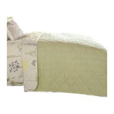 Botanique Easy Care Bedspread, Green, 195x230 cm